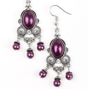 Purple earrings paparazzi